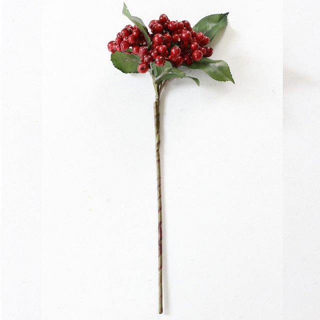 Artificial berry simulation fruit 4 color H-Q small fake plant wedding decoration for home hotel party table accessories 1pcs