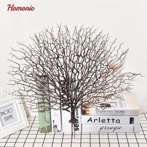 Wedding decoration Peacock coral Branch plastic decoration tree dried plants white tree branches artificial plant party supplies