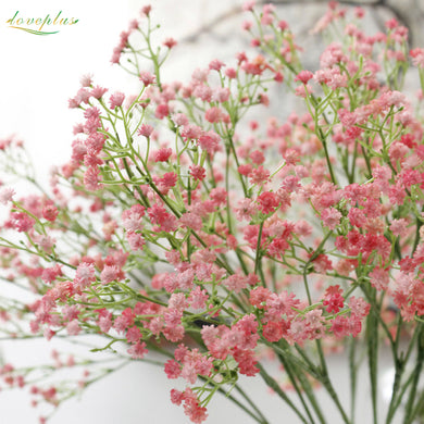 80 mini heads 1PC DIY Artificial baby's breath Flower Gypsophila Fake Silicone plant for Wedding Home Party Decorations 8 Colors