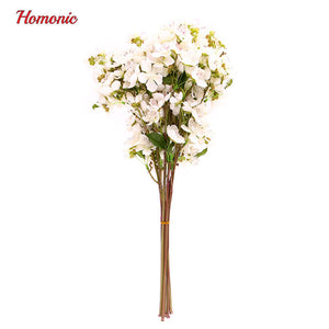 Artificial plants plastic fake flowers home decoration Silk Cherry Blossoms Artificial Bouquet Wedding mother day flores P10