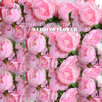 Artificial Rose Silk Peony Flower Heads 10cm 30 pieces/lot