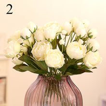 high quality 4 Heads Branch Peonies Pompom Artificial Flowers Wedding Decoration The Bride's Bouquet Artificial Plants Flores