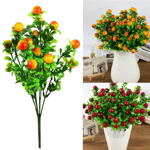 18 Artificial Fruit 6 Fork Artificial Plant For Home Party