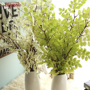 Newest 110cm long stem silk flowers Hanging Glass Plant green leaves Artificial Fake Leaves Wall Hanging Home Wedding Decoration