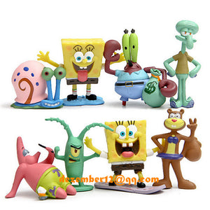 NICE 1Pc Fish Tank Aquarium Decoration SpongeBob Figures Squidward Tentacles Patrick Star Squidward Krabs Ornament Kids Gift
