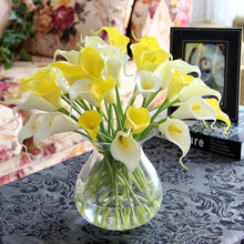 Luyue 15pcs/lot Artificial flowers Calla lily PVC Real Touch Bride Bouquet Flower Home Wedding Decor Flowers & Wreaths Mix Color