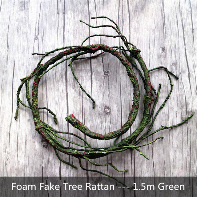 Natural Realistic Fake Plants Branch Foam Tree Rattan Home Decoration Artificial Plant Wall Decor Accessories 150cm