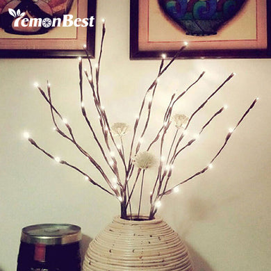 20-LED Branches Night Light Battery Powered Decorative Lamp Willow Twig Lighted Branch for Home Decoration Lights Warm White