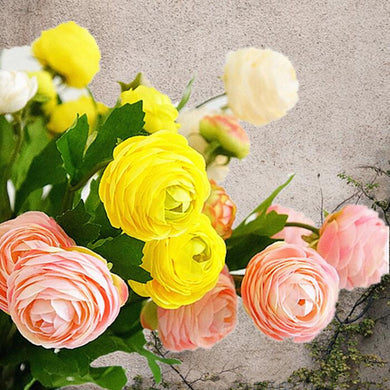 12Pcs Artificial Ranunculus Asiaticus peonies