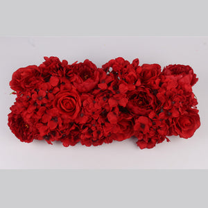 Silk artificial hydrangea flower arche row