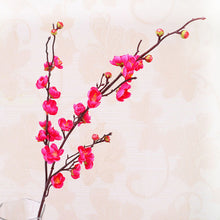 3 forks Artificial flowers cheap Silk Fake Flowers Plum Blossom Floral Wedding Bouquet Party Decor Artificial Potted Fake Flower