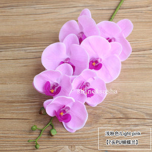 7 Heads 85cm artificial Phalaenopsis advanced latex silicon real touch big orchid