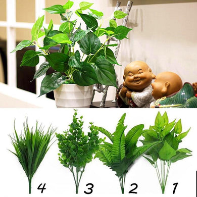 Artificial Plants Indoor Fake Flower Leaf Bush Home Office Garden Decor