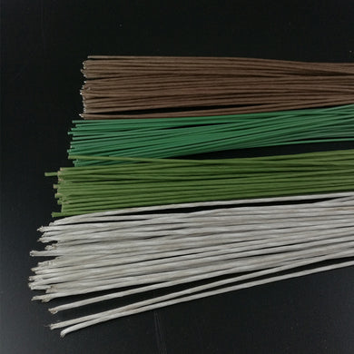 50/100PCS 60CM Flower Stub Stems Floral Tape Iron Wire Artificial Flower Stub Stems for Wedding Bridal Bouquet Wreath Flowers