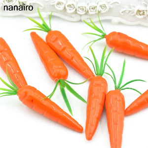 Cheap 30 pieces Carrots Mini Artificial Plastic Foam Carrot Fruit and Vegetable Berry Wedding Christmas Family Kitchen Decoratio