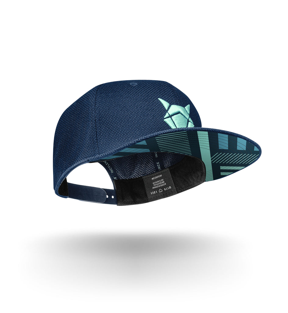 incylence snapback cap elements in dunkelblau und mint