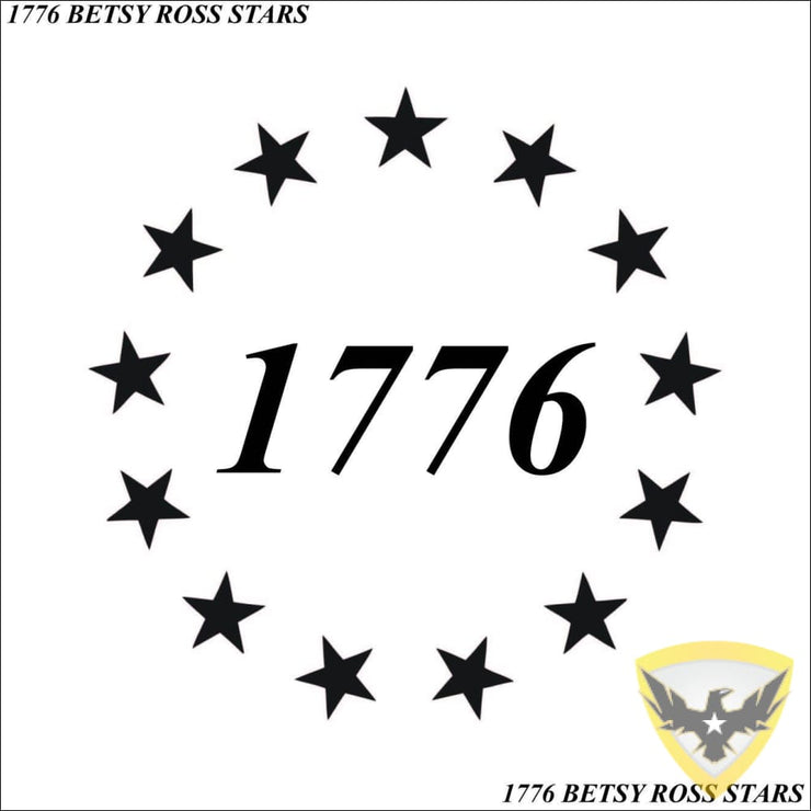 1776 Betsy Ross Stars Decal Mac Tactical Decals