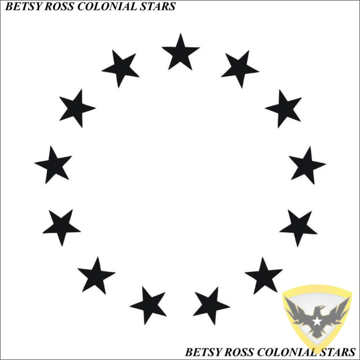 Betsy Ross Colonial Stars Decal Mac Tactical Decals
