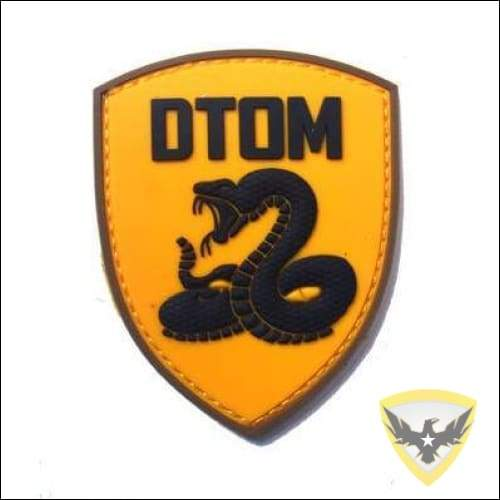 DTOM PVC Hook and Loop Patch Mac Tactical Decals