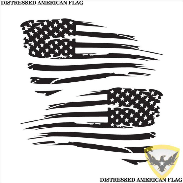 Distressed American Flag Decal Mac Tactical Decals
