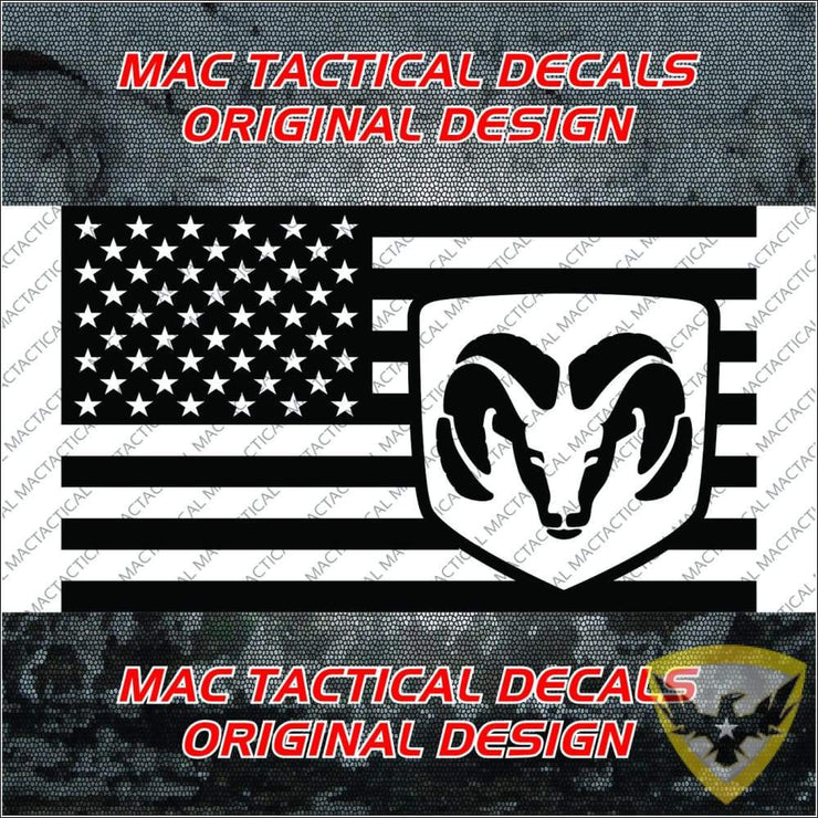 Dodge RAM American Flag Decal Mac Tactical Decals