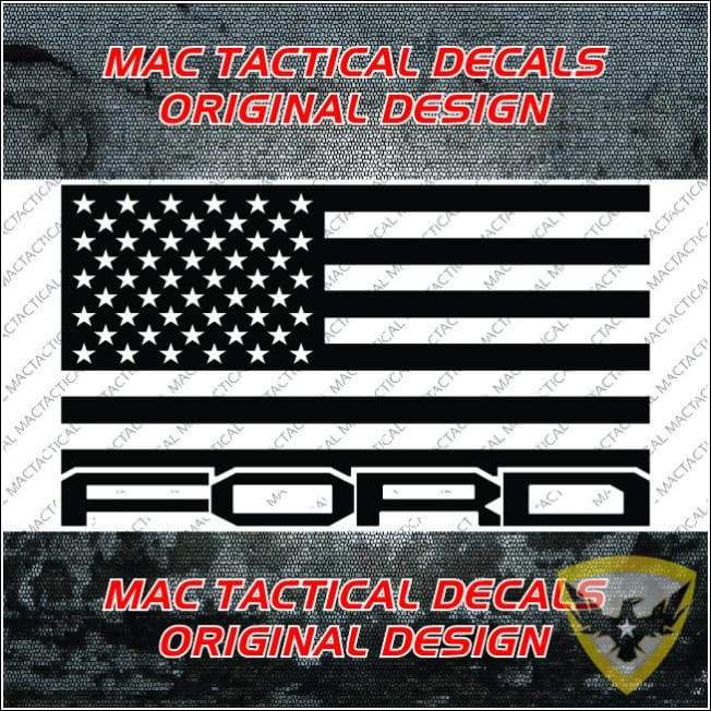 FORD Raptor American Flag Car Decal Mac Tactical Decals