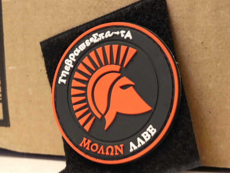 Greek Molon Labe PVC Hook and Loop Patch Mac Tactical Decals