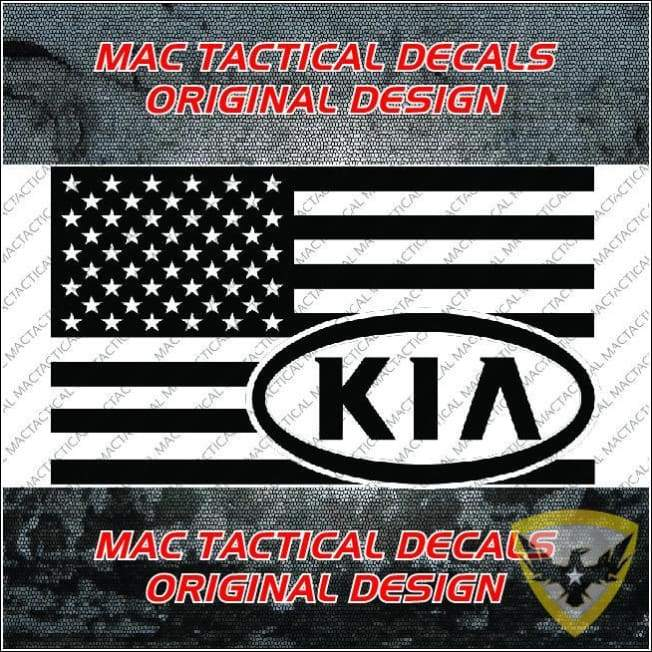 KIA American Flag Decal Mac Tactical Decals
