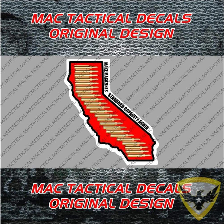 Make Magazines Standard Capacity Again California Sticker (Multi-Pack) Mac Tactical Decals