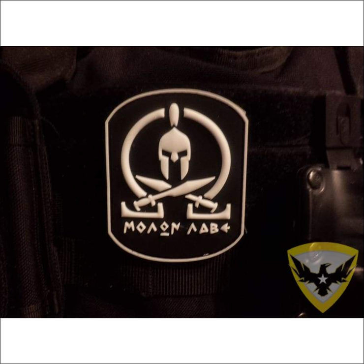 Molon Labe PVC Hook and Loop Patch (Glow-in-Dark) Mac Tactical Decals