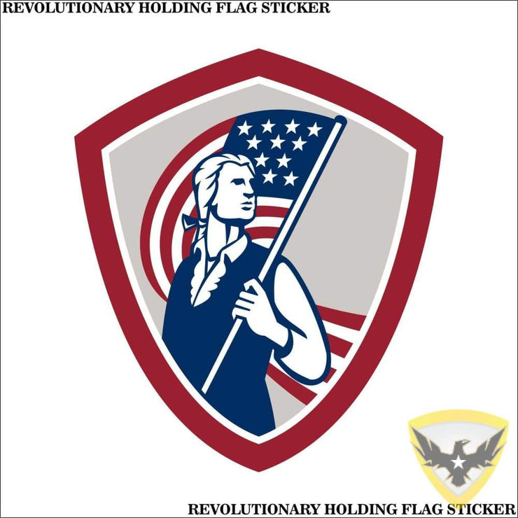 Revolutionary Holding The Flag Sticker (4 - 12 Pack) Mac Tactical Decals