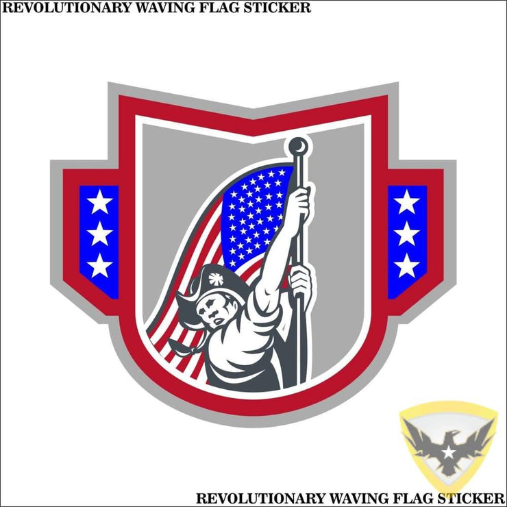 Revolutionary Waving The Flag Sticker (4 - 12 Pack) Mac Tactical Decals