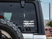 Shall Not Be Infringed McNuke Decal Mac Tactical Decals
