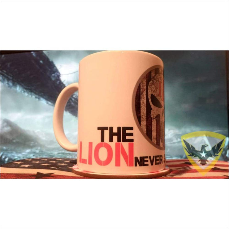 The Lion Never Fears The Jackal Mug 11oz Mac Tactical Decals