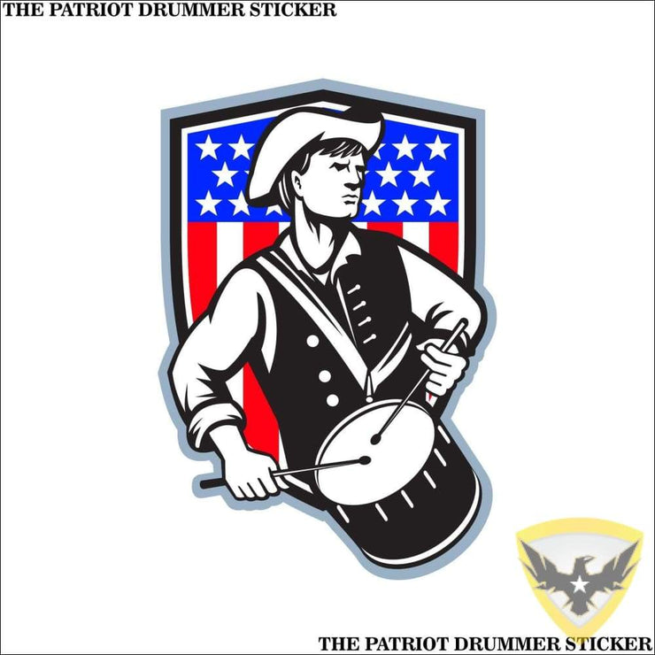 The Patriot Drummer Sticker (4 - 12 Pack) Mac Tactical Decals