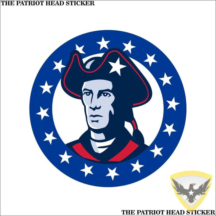 The Patriot Head Sticker (4 - 12 Pack) Mac Tactical Decals