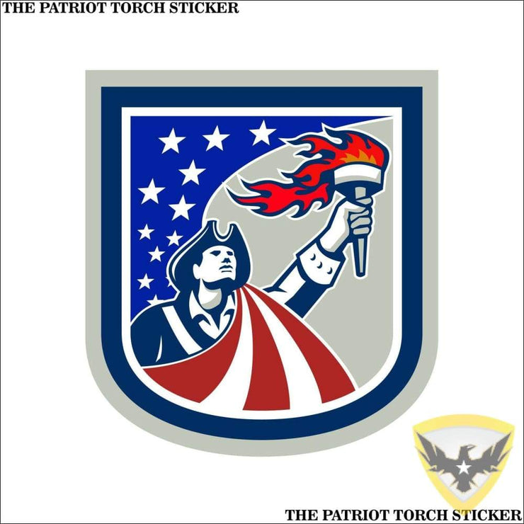 The Patriot Torch Sticker (4 - 12 Pack) Mac Tactical Decals