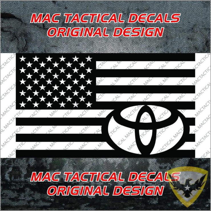 Toyota American Flag Decal Mac Tactical Decals