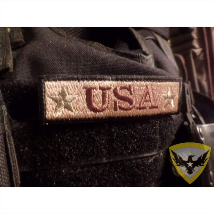 USA Embroidered Hook and Loop Patch Mac Tactical Decals