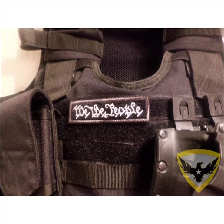 We The People Embroidered Hook and Loop Patch Mac Tactical Decals