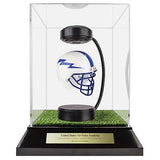 Air Force Academy Hover Helmet in Acrylic Case, on top of Hover Helmets TURF, on a base with plaque