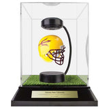 Arizona State Hover Helmet in Acrylic Case, on top of Hover Helmets TURF, on a base with plaque