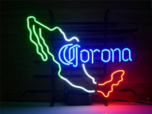NEON SIGN NEW CORONA EXTRA MEXICO CERVEZA   Signboard REAL GLASS BEER BAR PUB  display  christmas Light Signs 17*14""