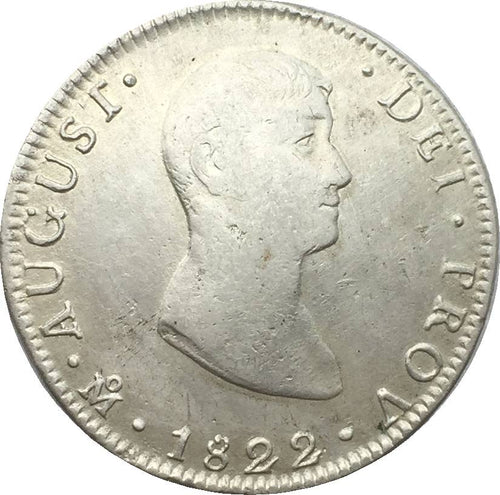 Mexico 1822 8 Reales 90% silver M O J M copy coin