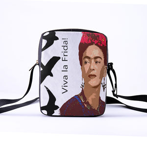 Frida Kahlo Crossbody Bag Mexican painter Shoulder Messenger Bag 23x17x5cm