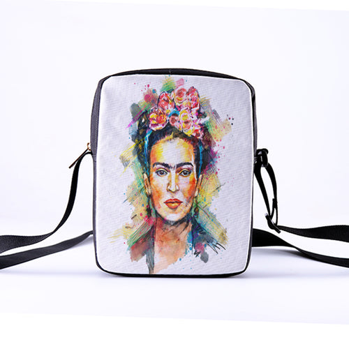 Frida Kahlo Crossbody Bags Mexican painter Casual Mini Messenger Bag