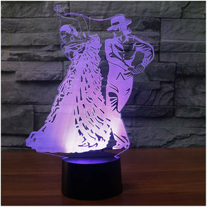 3D Led Desk Lamp Visual Mexico Dance Bedside Sleep Nightlight Colorful Light Fixtures Decor Gifts