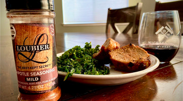 Loubier's Orange and Chipotle Rubbed Pork and a Side of Sautéed Kale