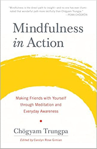 Mindfullness in Action Written By Chogyam Trunpa Introduces Meditation To First Timers