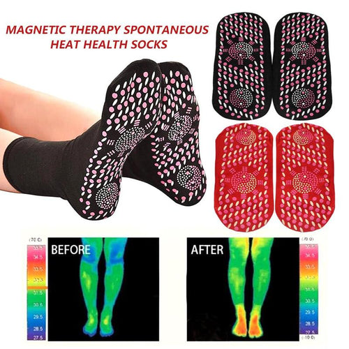 Meias Anti-Dor Magnetic Socks Therapy  - com Turmalina
